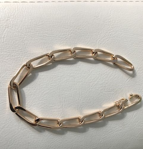 Bracelet maille cheval or rose 750, 18 carats, 30,06 grs, occasion