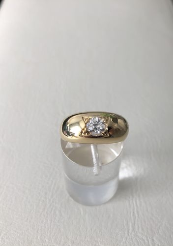 bague jonc ancien or 18k  diam 0,50 taille ancienne occasion poids 8 g