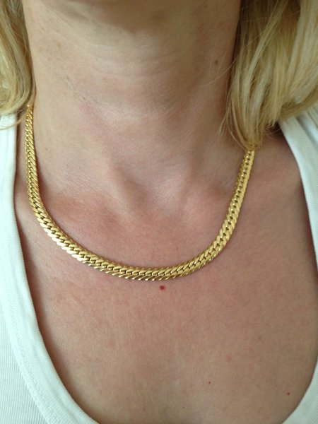 Collier maille anglaise OR 750 °/°°, 18 carats, 25,80 grammes