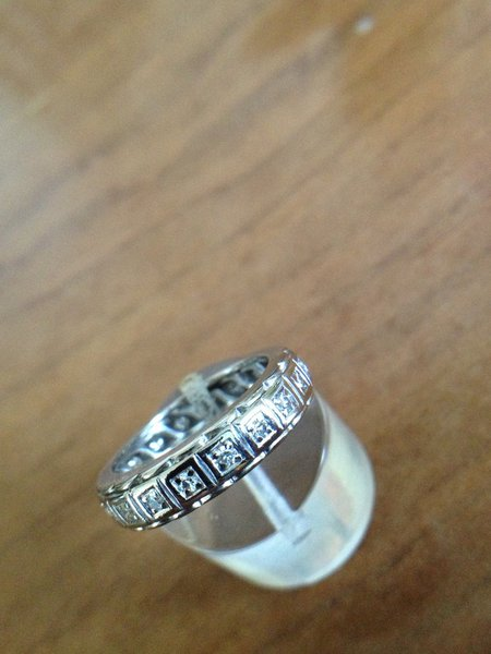 Alliance diamants or blanc 18 carats  5,20 g occasion