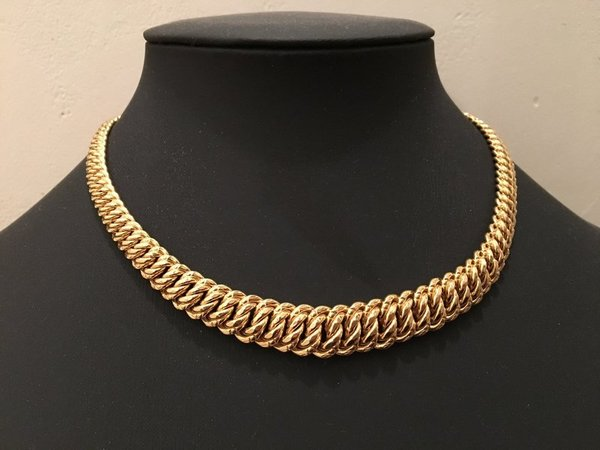Collier maille americaine OR 750 °/°°, 18 carats, 36,30 grammes